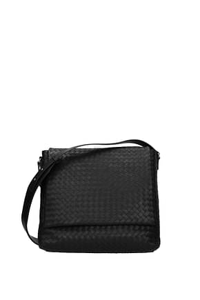 Bottega Veneta Crossbody Bag Men Leather Black