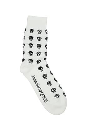 Alexander McQueen Socks Men Cotton White