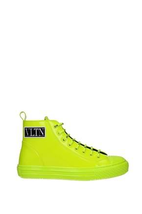 Valentino Garavani Sneakers vltn Hombre Charol Amarillo Amarillo Fluo