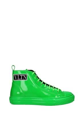 Valentino Garavani Sneakers vltn Men Patent Leather Green Fluo Green