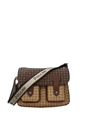 Pollini Crossbody Bag Women PVC Brown Cookie
