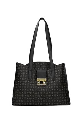 Pollini Shoulder bags Women PVC Black Black