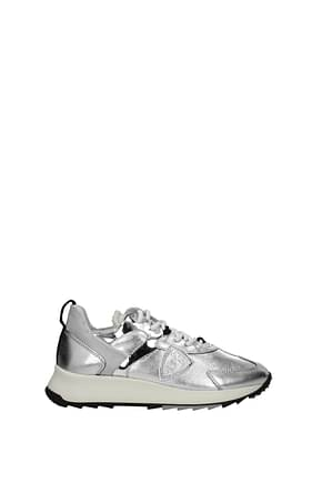 Philippe Model Sneakers royale Mujer Piel Plata