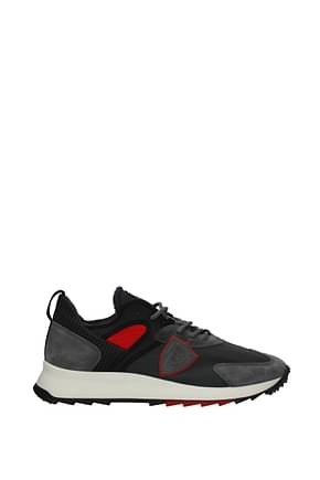 Philippe Model Sneakers royale Men Fabric  Gray Red