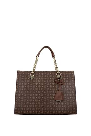 Pollini Handbags Women PVC Brown Cookie