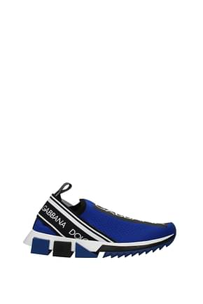 Dolce&Gabbana Sneakers sorrento Men Fabric  Blue Black