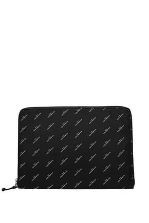 Balenciaga Clutches Men Fabric  Black