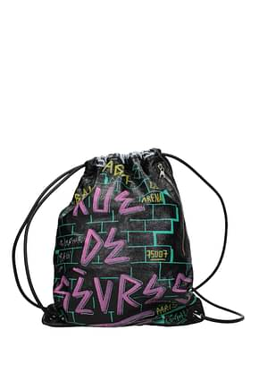 Balenciaga Backpack and bumbags Men Leather Black Multicolor