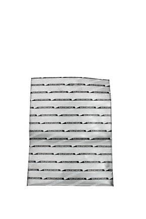 Balenciaga Handbags Men Leather Silver