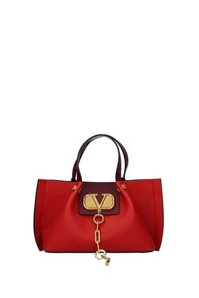 Valentino Garavani Handbags Women Leather Red Grapes