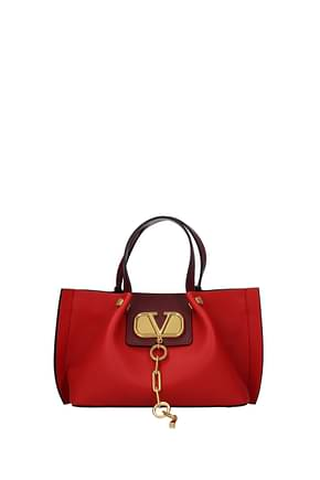 Valentino Garavani Handbags Women Leather Red Grapes