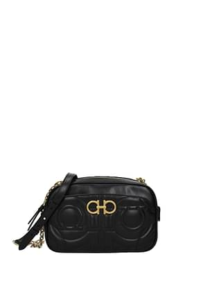 Salvatore Ferragamo Crossbody Bag quilting Women Leather Black