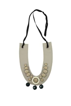 Prada Necklaces Women Cotton Beige