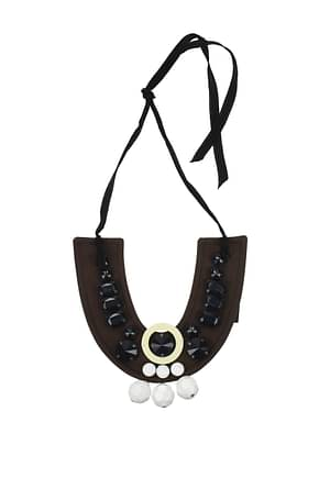 Prada Necklaces Women Cotton Brown