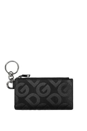 Dolce&Gabbana Document holders Men Leather Black
