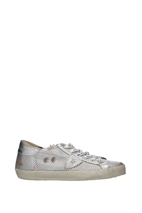 Philippe Model Sneakers paris Women Leather Silver Silver