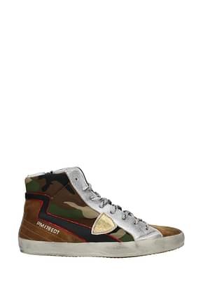 Philippe Model Sneakers paris Femme Tissu Multicouleur
