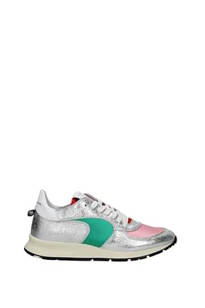 Philippe Model Sneakers montecarlo Women Leather Silver Pink