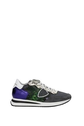 Philippe Model Sneakers Damen Leder Grün Violett
