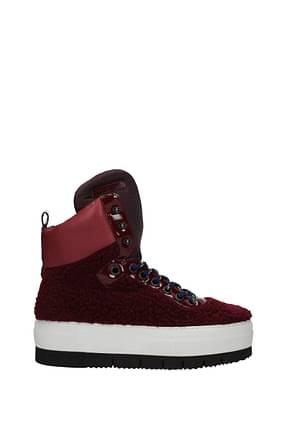 Philippe Model Sneakers adele Mujer Pelaje Rojo