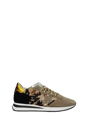 Philippe Model Sneakers trpx Women Pony Skin Beige Yellow