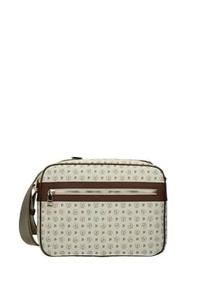 Pollini Crossbody Bag Women PVC Beige Brown