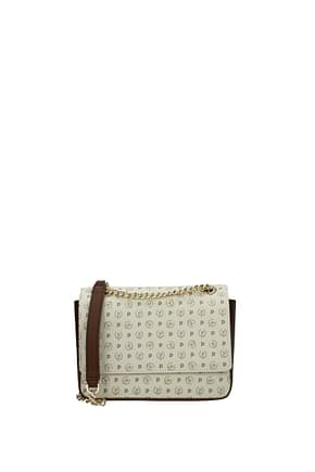 Pollini Shoulder bags Women PVC Beige Brown
