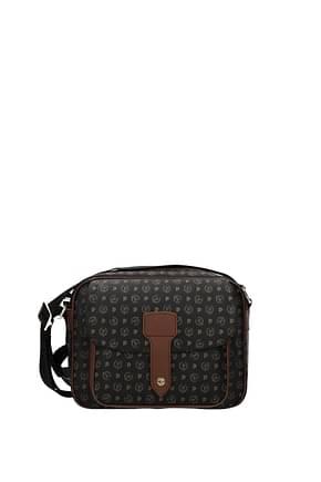 Pollini Crossbody Bag Women PVC Black Brown