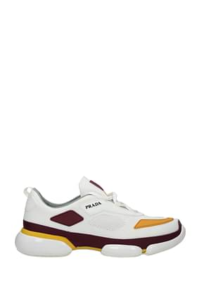 Prada Sneakers Men Fabric  White Saffron
