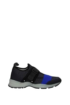 Christian Dior Sneakers Men Fabric  Blue Electric Blue