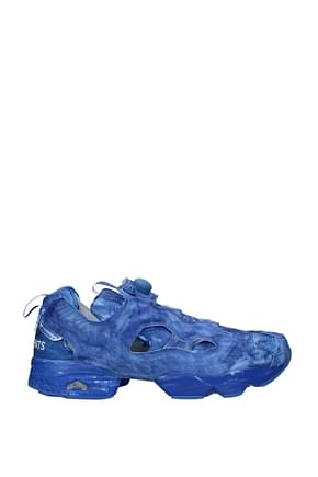 Vetements Design Sneakers reebok Men Fabric  Blue