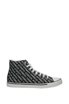 Vetements Design Sneakers Herren Stoff Schwarz