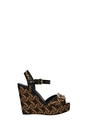 Dolce&Gabbana Sandali Donna Rafia Beige