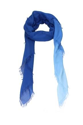 Fendi Foulard Women Cotton Blue