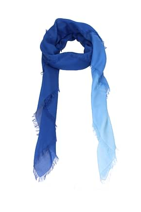 Fendi Foulard Women Cotton Blue