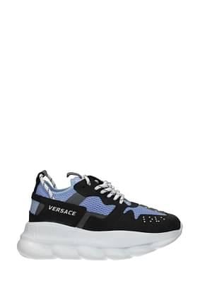 Versace Sneakers Herren Stoff Blau Himmlisch
