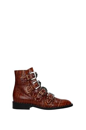 Givenchy Ankle boots Women Leather Crocodile Brown