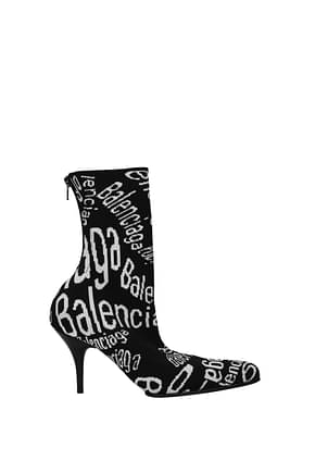 Balenciaga Ankle boots Women Fabric  Black