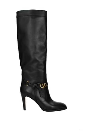 Valentino Garavani Boots Women Leather Black