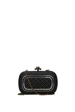 Bottega Veneta Clutches Women Leather Black