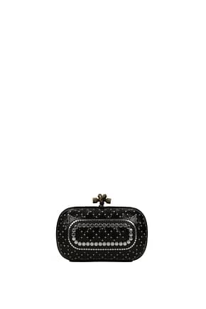 Bottega Veneta Clutches Women Leather Snake Black
