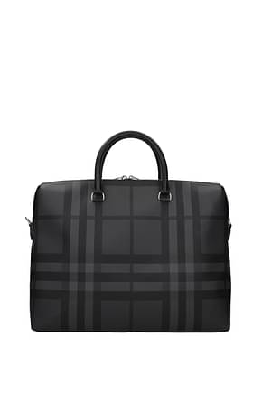 Burberry Work bags Men Fabric  Black