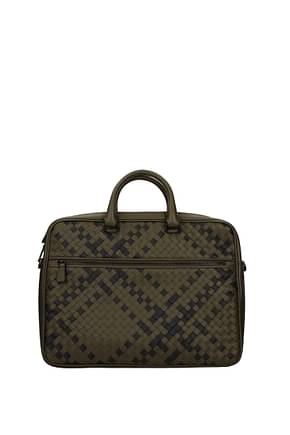 Bottega Veneta Work bags Men Leather Green