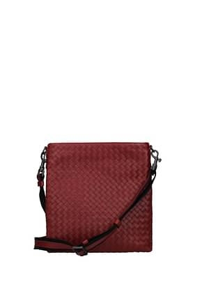Bottega Veneta Crossbody Bag Men Leather Red Dark Red