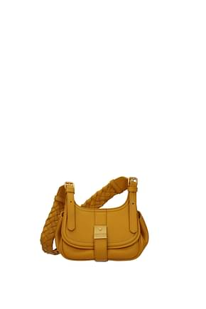 Bottega Veneta Crossbody Bag Women Leather Yellow