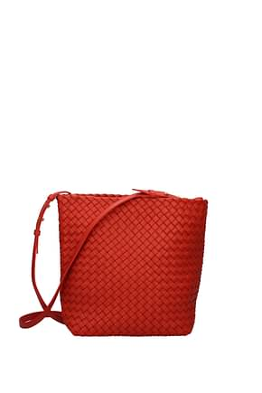 Bottega Veneta Crossbody Bag Women Leather Red