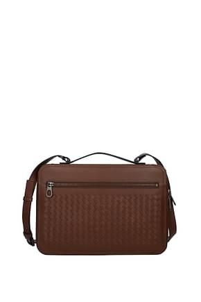Bottega Veneta Handbags Men Leather Brown