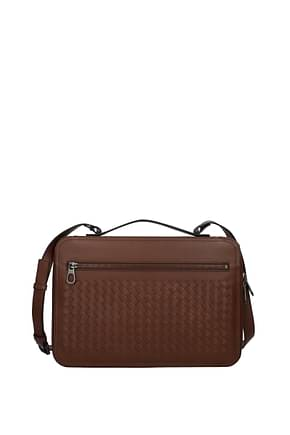 Bottega Veneta Handbags Men Leather Brown