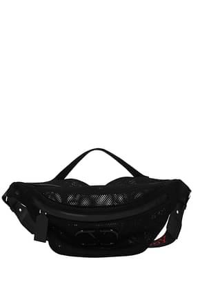 Valentino Garavani Backpack and bumbags v logo Men Fabric  Black