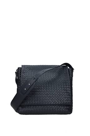 Bottega Veneta Crossbody Bag Men Leather Blue